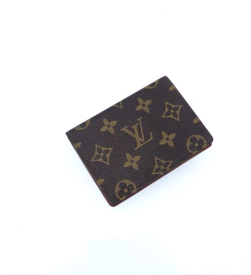 Louis Vuitton Porte 2 Cartes Vertical Monogram Canvas Leather Slim Credit ID Wallet Image 2