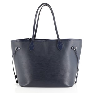 Louis Vuitton Neverfull Epi Leather Tote in blue