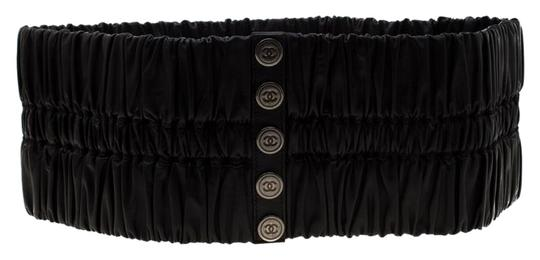 Preload https://img-static.tradesy.com/item/25877566/chanel-black-leather-stretchable-waist-size-95cm-belt-0-1-540-540.jpg