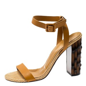 Gucci Leather Yellow Sandals