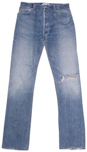 RE/DONE Straight Leg Jeans-Distressed