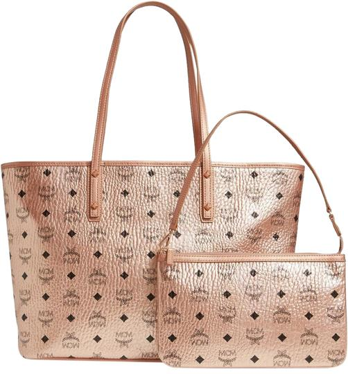 Preload https://img-static.tradesy.com/item/25877916/mcm-bag-new-2pc-shopper-zip-purse-rose-gold-champagne-coated-canvas-tote-0-1-540-540.jpg