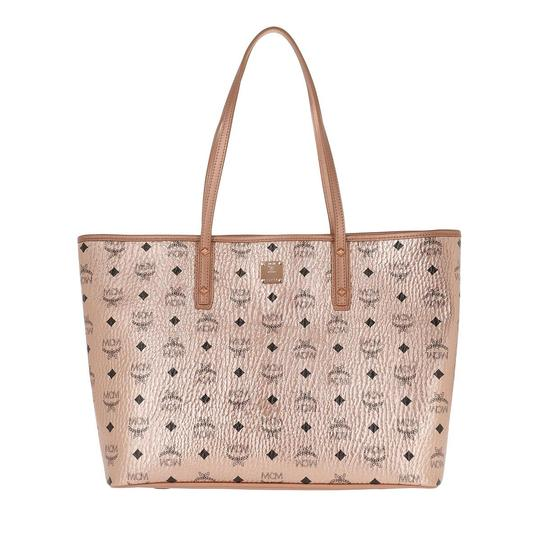 MCM Metallic Purse Tote in Rose Gold Champagne Image 1