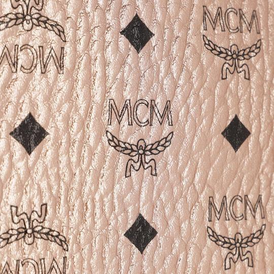 MCM Metallic Purse Tote in Rose Gold Champagne Image 10