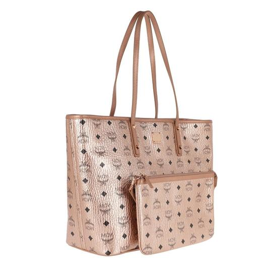 MCM Metallic Purse Tote in Rose Gold Champagne Image 4