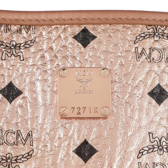 MCM Metallic Purse Tote in Rose Gold Champagne Image 5