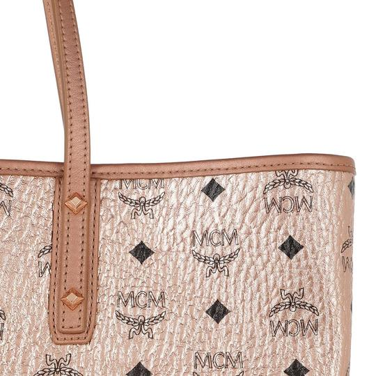 MCM Metallic Purse Tote in Rose Gold Champagne Image 7