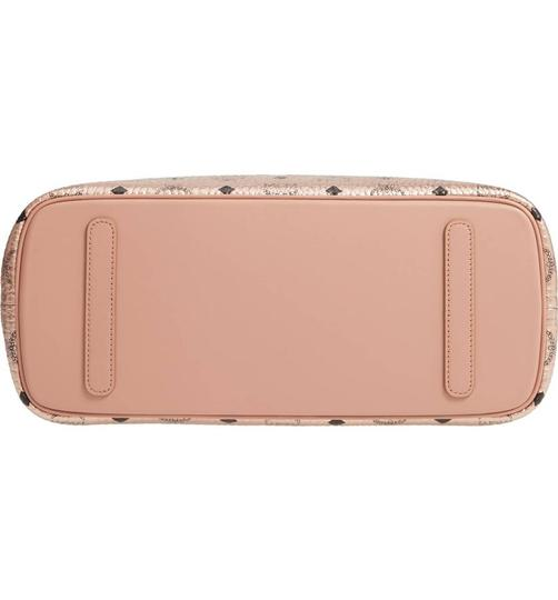 MCM Metallic Purse Tote in Rose Gold Champagne Image 8