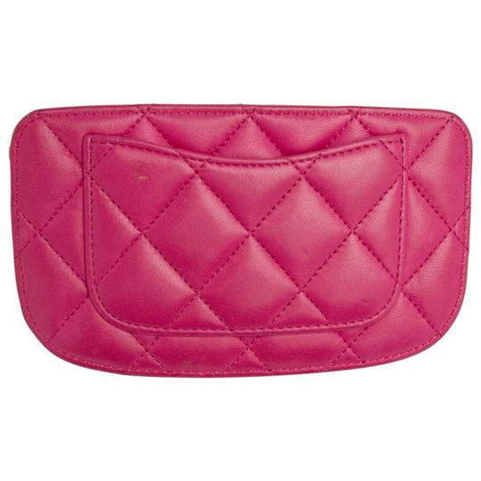 Chanel Pink Quilted Leather Card Holder Image 1