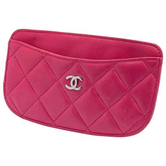 Chanel Pink Quilted Leather Card Holder Image 3