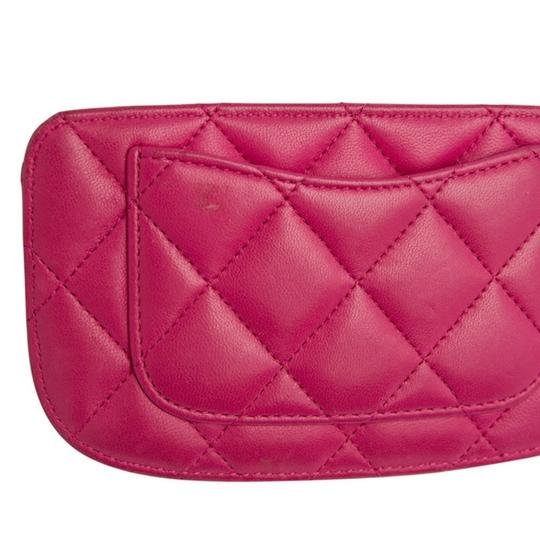 Chanel Pink Quilted Leather Card Holder Image 6