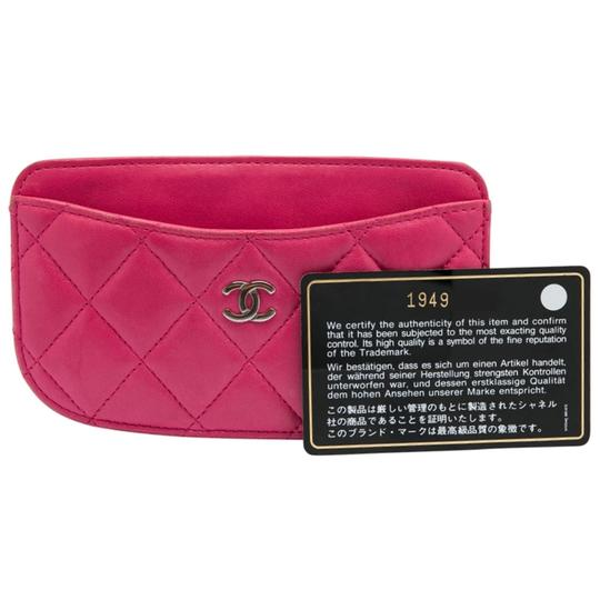 Chanel Pink Quilted Leather Card Holder Image 7