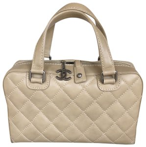 Chanel Cc Quilted Tote in Beige