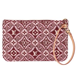 Louis Vuitton Limited Edition Runway Rare Trunk Leather Wristlet in Red