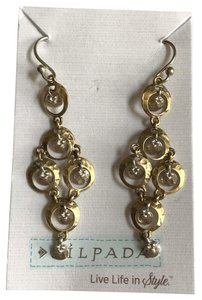Silpada Silpada Sterling Silver Brass Two Tone Chandelier Earrings Dangles Delicate