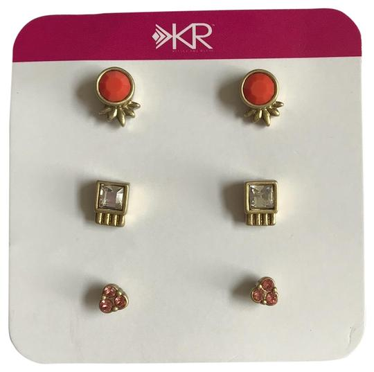 Preload https://img-static.tradesy.com/item/25878388/silpada-gold-coral-peach-kr-collection-fashion-plated-glass-crystal-stud-post-earrings-0-1-540-540.jpg
