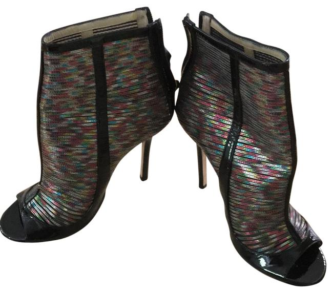 Item - Black and Multi-color Open Toed Boots/Booties Size EU 36.5 (Approx. US 6.5) Regular (M, B)