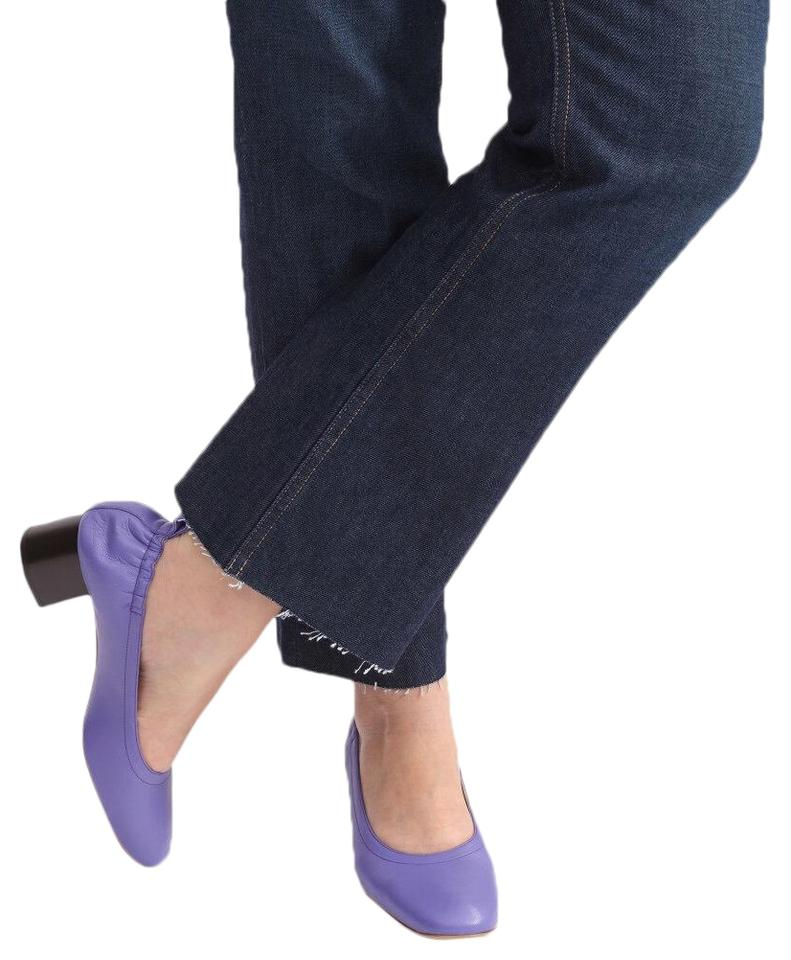 60% clearance best selection of 2019 wholesale online Purple Leather Day Heel Pumps