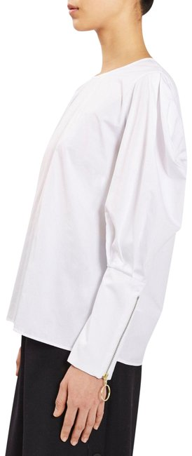 Item - White Statment Sleeve Cotton By Boutique Blouse Size 4 (S)