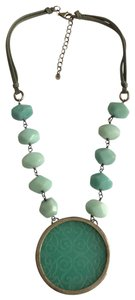 Silpada Silpada Sterling Silver Amazonite Chunky Pendant Rosary Necklace Statement Jewelry