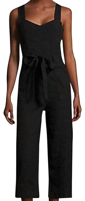Item - Black Light Wash Belted Jumpsuit Cargo Jeans Size Petite 12 (L)