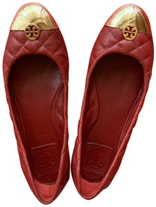 Tory Burch red gold Athletic
