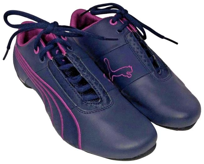 Item - Navy Blue & Pink Future Cat Trainer Sneakers Size US 10 Regular (M, B)