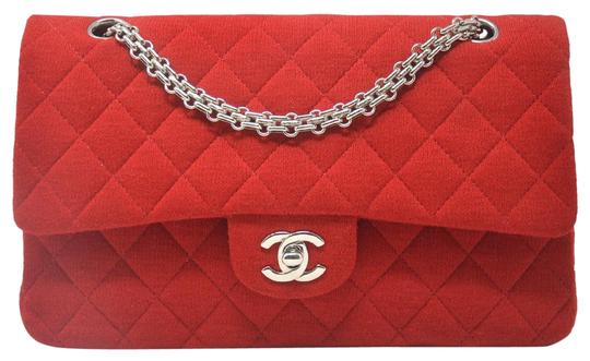 Preload https://img-static.tradesy.com/item/25878745/chanel-double-flap-fabric-red-jersey-shoulder-bag-0-1-540-540.jpg