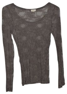 Zenana Outfitter Top Bronze Sheer Lace