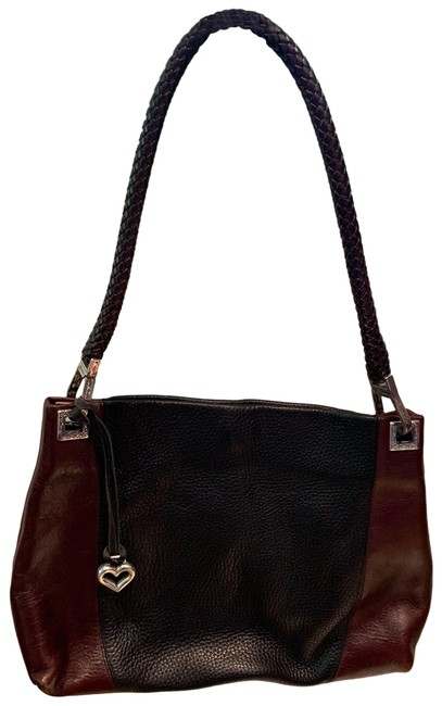 Item - Chocolate Brown and Black Patent Leather Hobo Bag