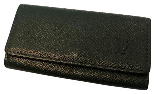 Louis Vuitton 4 Ring Key Holder Case Epicea (Dark Green) Taiga Leather Image 0