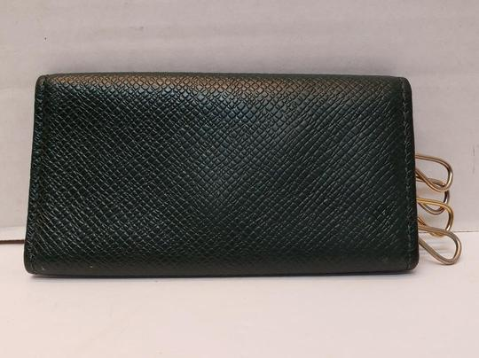 Louis Vuitton 4 Ring Key Holder Case Epicea (Dark Green) Taiga Leather Image 2