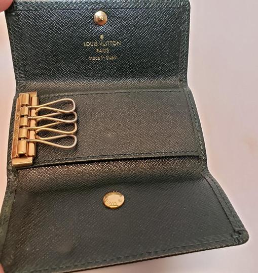 Louis Vuitton 4 Ring Key Holder Case Epicea (Dark Green) Taiga Leather Image 3