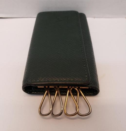 Louis Vuitton 4 Ring Key Holder Case Epicea (Dark Green) Taiga Leather Image 4