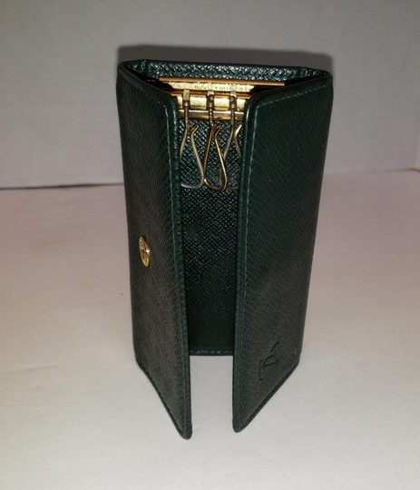 Louis Vuitton 4 Ring Key Holder Case Epicea (Dark Green) Taiga Leather Image 5