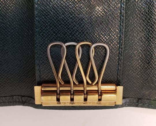 Louis Vuitton 4 Ring Key Holder Case Epicea (Dark Green) Taiga Leather Image 9