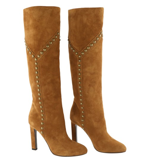 Saint Laurent Women's Suede Brown Boots Image 1