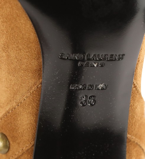 Saint Laurent Women's Suede Brown Boots Image 10