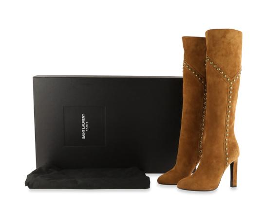 Saint Laurent Women's Suede Brown Boots Image 11