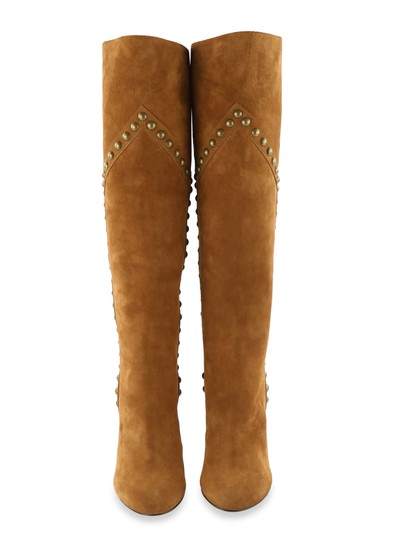 Saint Laurent Women's Suede Brown Boots Image 2