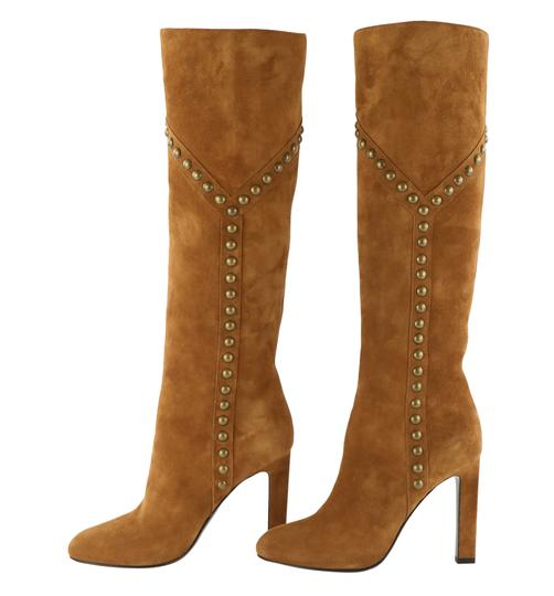 Saint Laurent Women's Suede Brown Boots Image 4