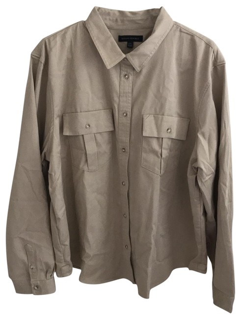 Item - Tan Quinn Straight Fit Button-down Top Size 20 (Plus 1x)