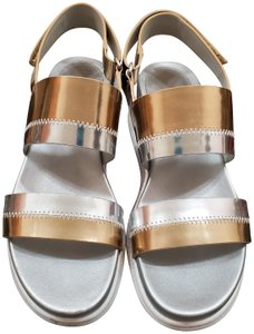 Cole Haan Gold Silver Sandals
