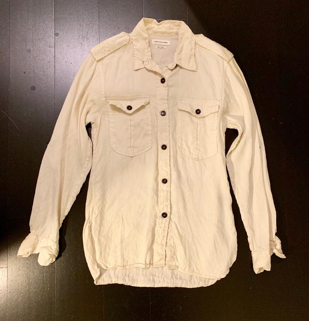 Isabel Marant Button Down Shirt Ivory Image 1