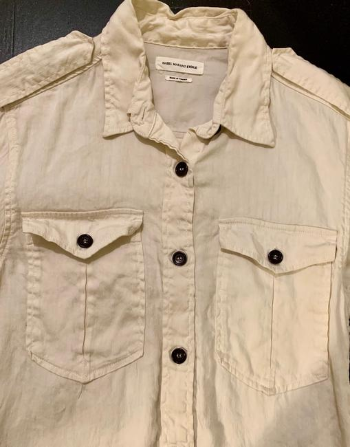 Isabel Marant Button Down Shirt Ivory Image 4