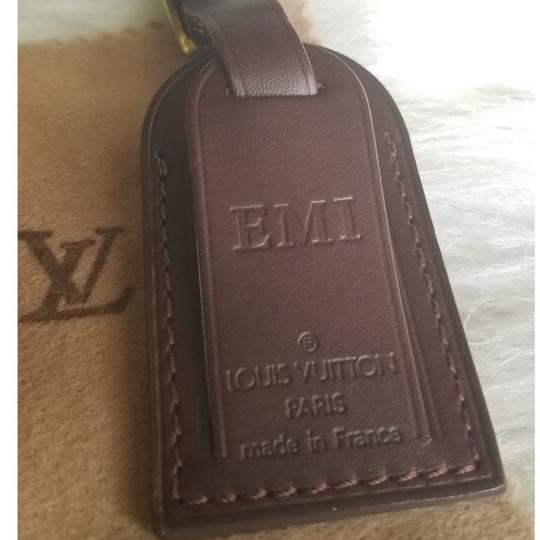 Louis Vuitton Brown Luggage ID tag For Damier Ebene PM Image 10