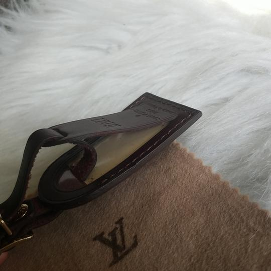 Louis Vuitton Brown Luggage ID tag For Damier Ebene PM Image 6