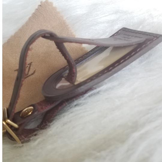 Louis Vuitton Brown Luggage ID tag For Damier Ebene PM Image 9