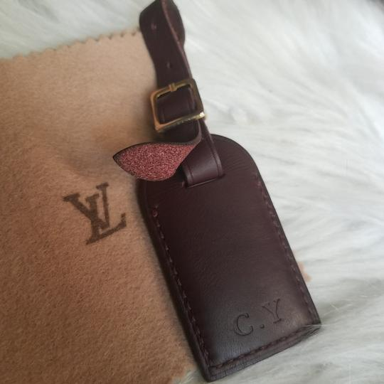Louis Vuitton Brown Luggage ID tag For Damier Ebene PM Image 2