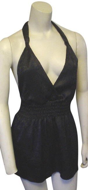 Item - Black Silky Summer Casual Ec Halter Top Size 6 (S)